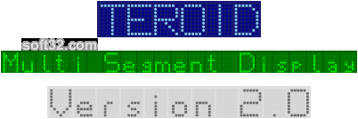 Teroid Multi Segment Display Screenshot