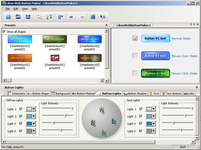 Likno Web Button Maker Free Screenshot