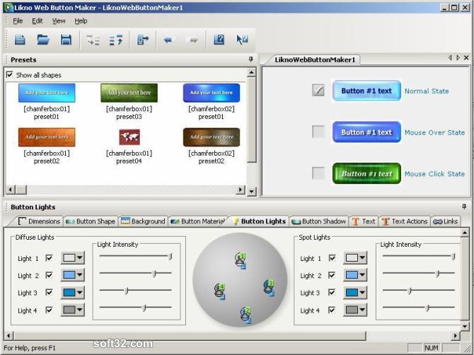 Likno Web Button Maker Free Screenshot 3