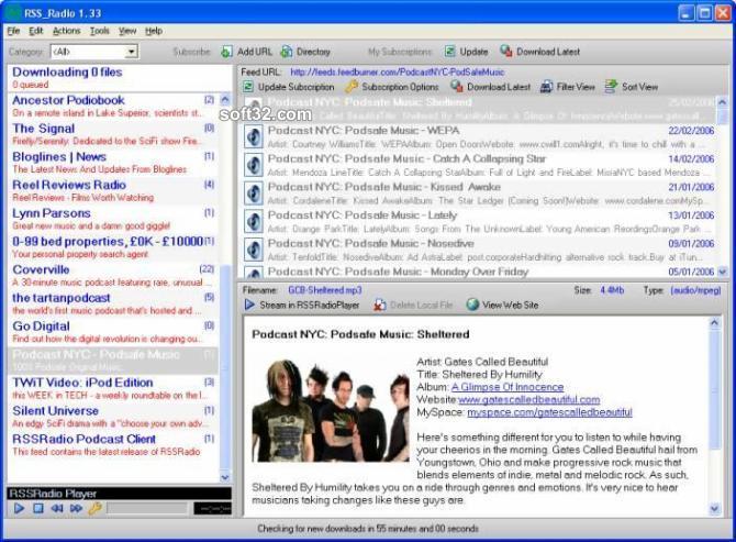 RSSRadio Screenshot 2