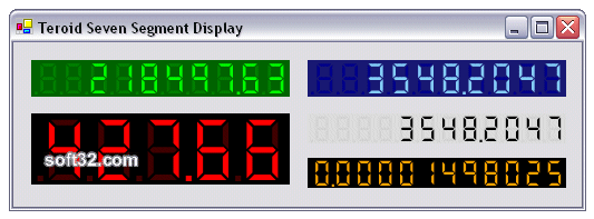 Teroid Seven Segment Display Screenshot