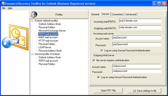 Password Recovery Toolbox for Outlook Screenshot 2