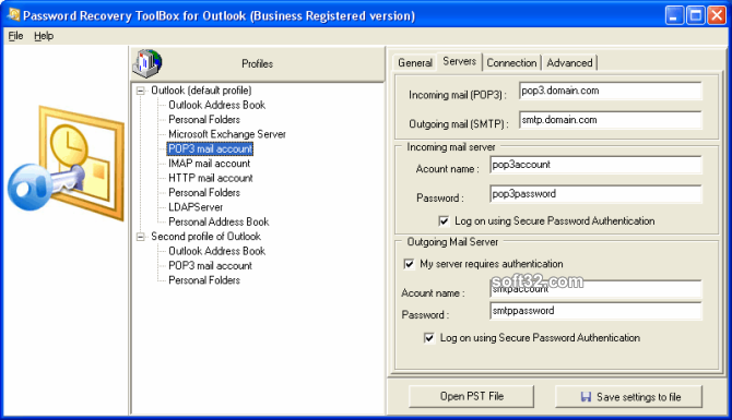 Password Recovery Toolbox for Outlook Screenshot 3
