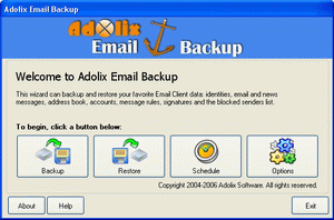 Adolix Email Backup Screenshot