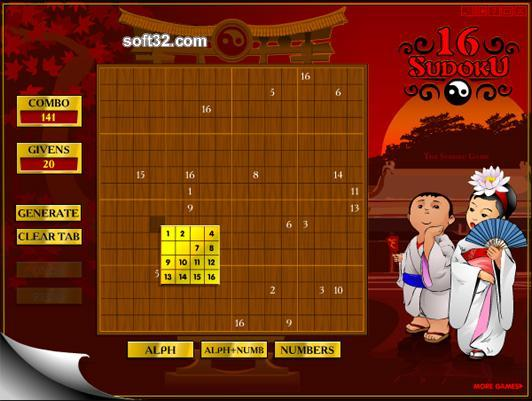 Sudoku16 Screenshot 1