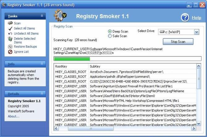 Registry Smoker Screenshot 4