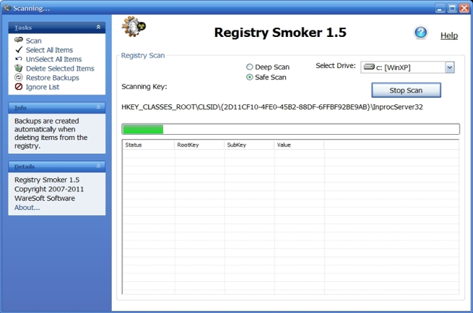 Registry Smoker Screenshot