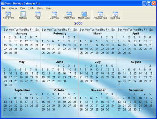 1st Smart Desktop Calendar Screenshot