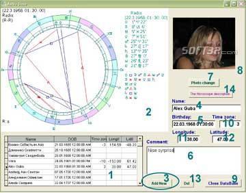 Astrological Data Base Sphinx Screenshot