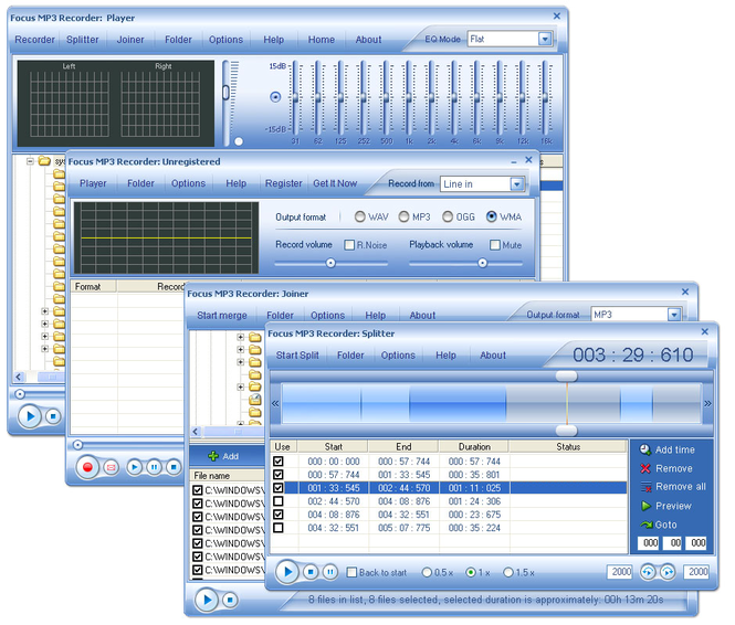 Focus Mp3 Recorder Pro Screenshot 1