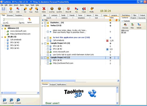 TaoNotes 2006 Pro Screenshot 1