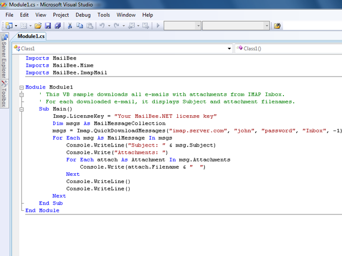 MailBee.NET Objects Screenshot