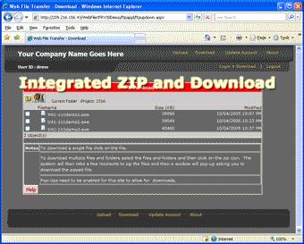 Web File Transfer Screenshot