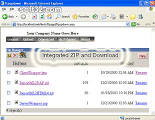 Web File Transfer Screenshot 3