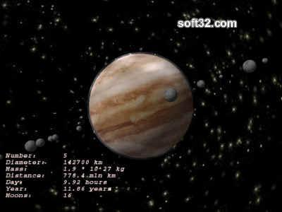 Jupiter 3D ScreenSaver Screenshot 1