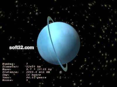Uranus 3D ScreenSaver Screenshot