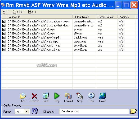 Rm Rmvb ASF Wmv Wma Mp3 Audio Converter Screenshot 3