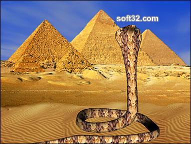 Sacred Egyptian Cobra 3D Screensaver Screenshot 3