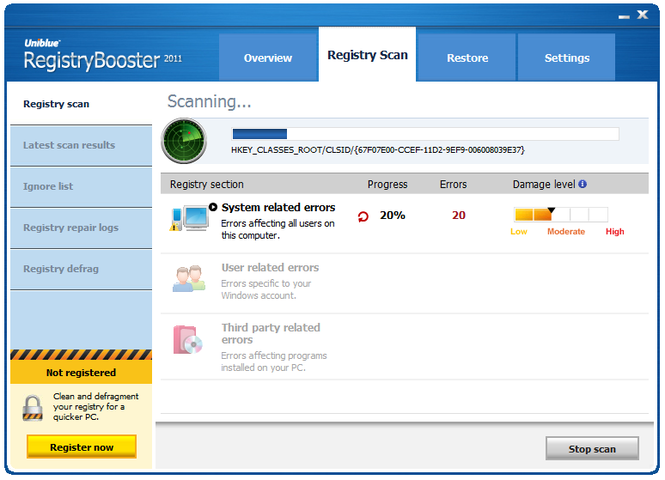 RegistryBooster Screenshot 2