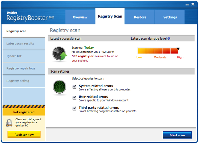 RegistryBooster Screenshot