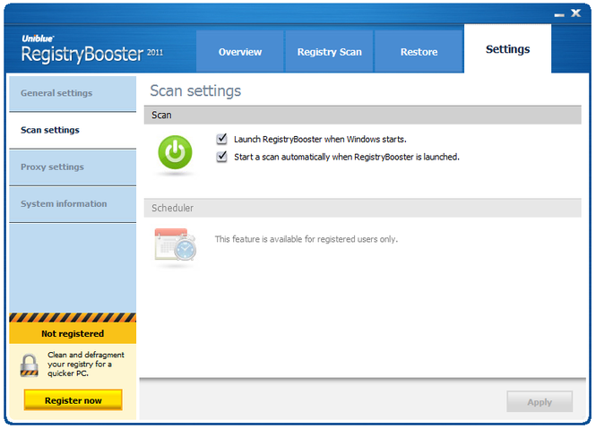 RegistryBooster Screenshot 3
