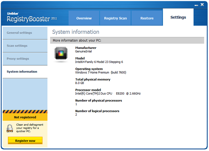 RegistryBooster Screenshot 4