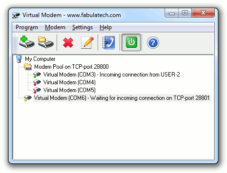 Virtual Modem Screenshot