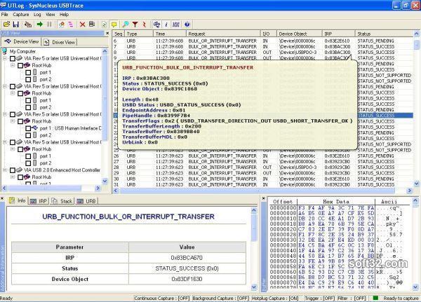 USBTrace Screenshot 2