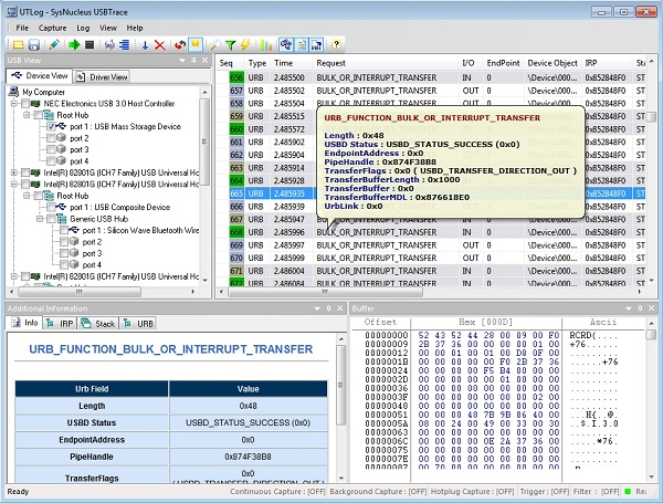 USBTrace Screenshot 1