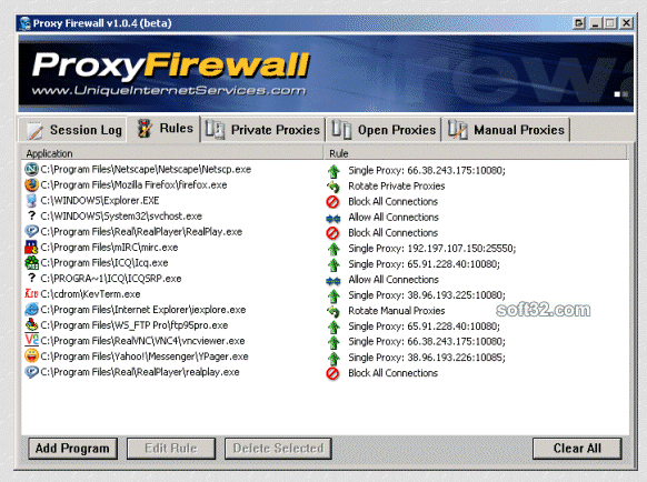 Proxy Firewall Screenshot 1