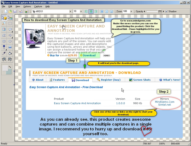 Easy Screen Capture And Annotation Screenshot