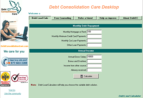 DebtCC Desktop Screenshot