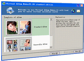 Virtual Album Maker Standard Screenshot