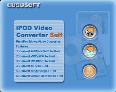01 Cucusoft iPod Video Converter + DVD Screenshot
