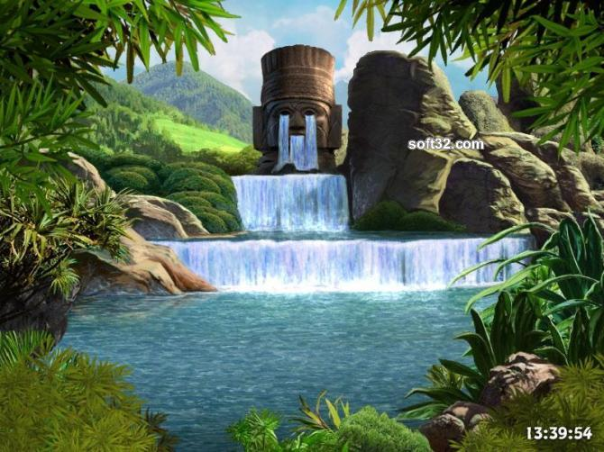 Waterfalls and Ancient Gods screensaver Screenshot