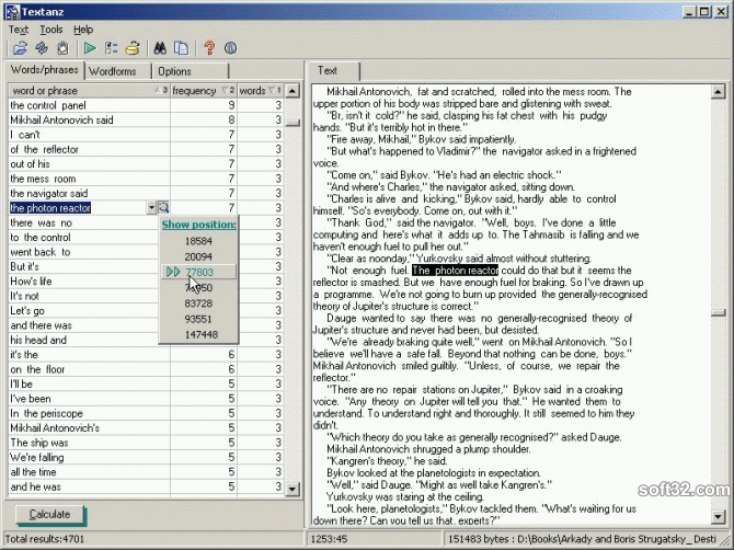 Textanz Screenshot