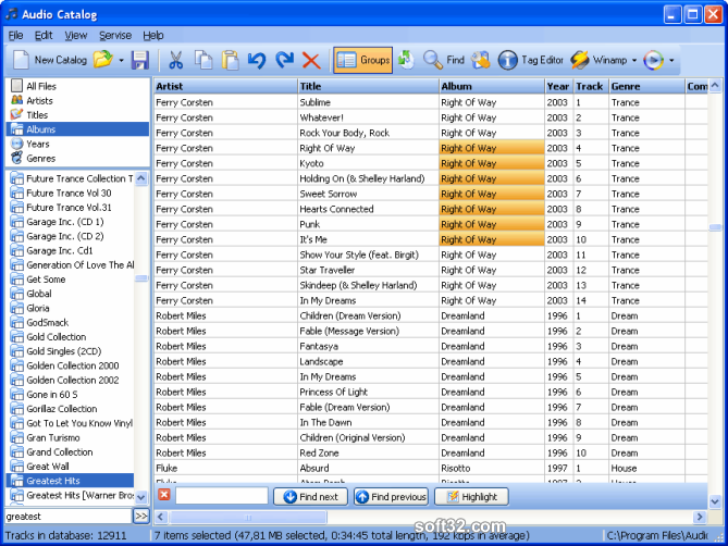 Audio Catalog Screenshot 3