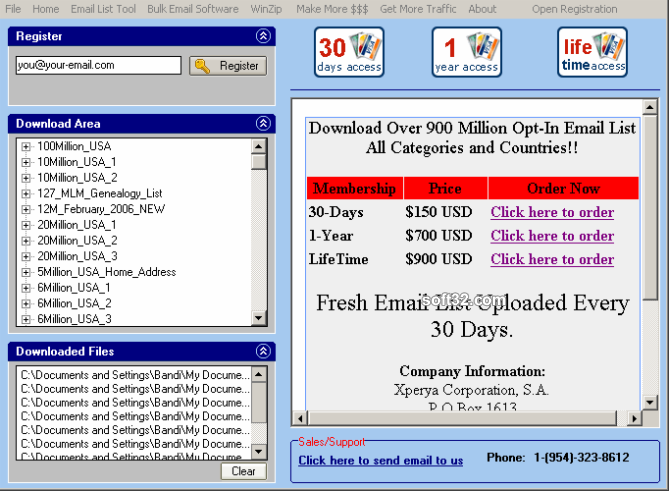 Opt-In Email List Download Manager Screenshot 2