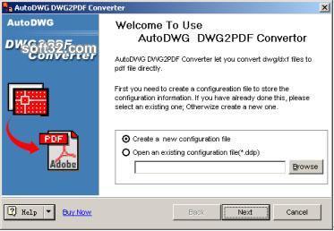 AutoDWG DWG to PDF Converter 2005 Screenshot 1