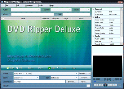 Magicbit DVD Ripper Standard Screenshot