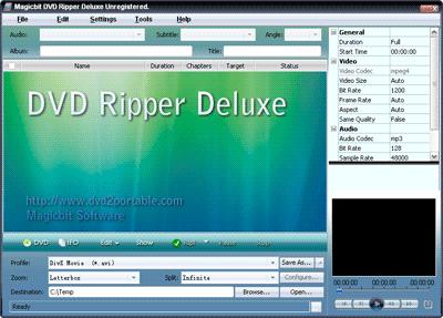 Magicbit DVD Ripper Standard Screenshot 1
