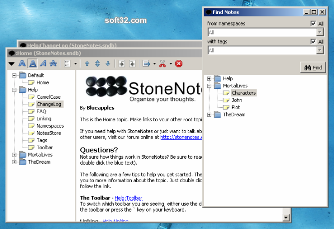 StoneNotes Screenshot