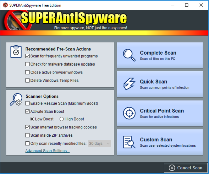 SUPERAntiSpyware Free Edition Screenshot 3