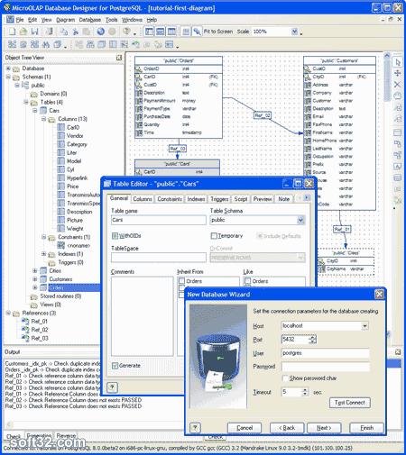 MicroOLAP Database Designer for PostgreSQL Screenshot 2