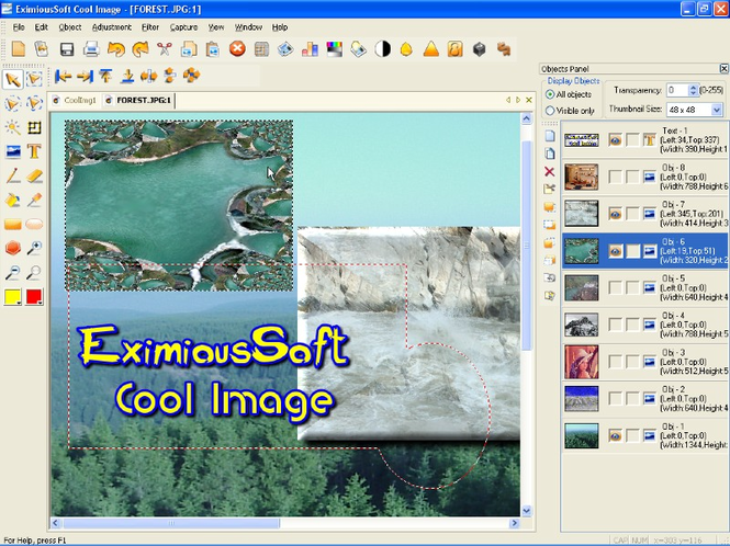 EximiousSoft Cool Image Screenshot 1