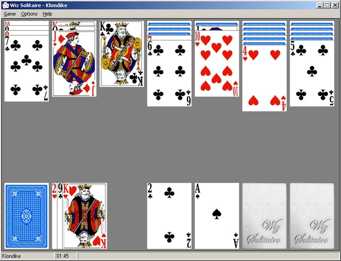 Wiz Solitaire Screenshot