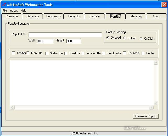 AdrianSoft Webmaster Tools Screenshot