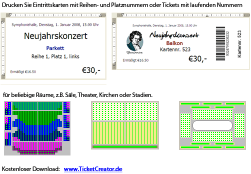TicketCreator - Print Your Tickets Screenshot