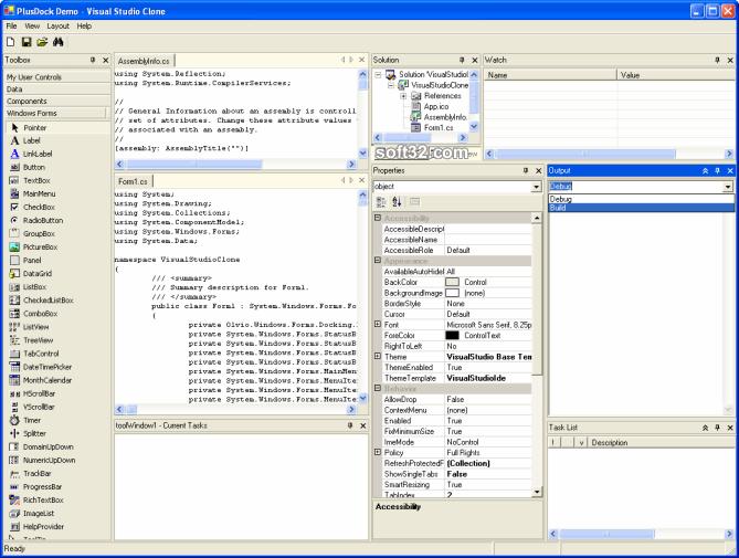 PlusDock for .NET 2.0 Screenshot