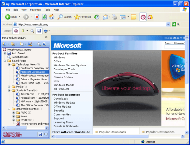 Inquiry Professional Edition Screenshot